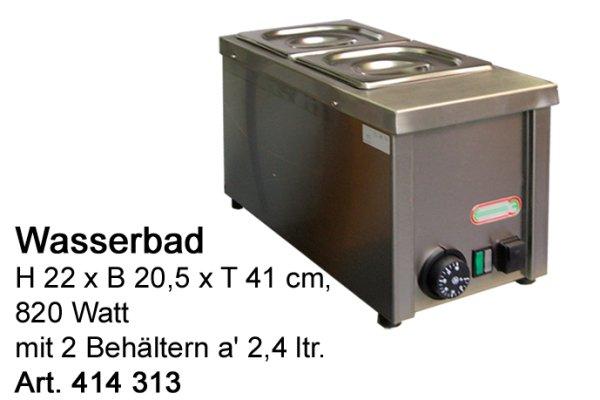 Wasserbad Inox 2 x 2,4 lt. bestehend aus: