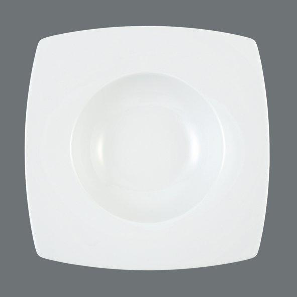 Savoy Gourmet-Teller eckig tief 20,5 weiß