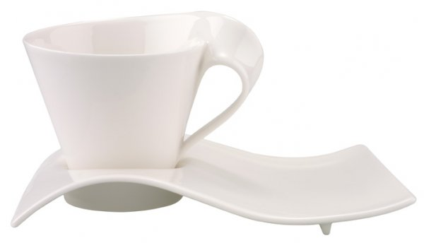 Cappuccino Tasse obere New Wave 0,25l weiss