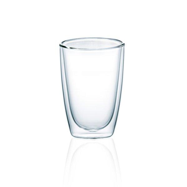 Latte Macchiato Glas gewölbt, doppelwandig 360ml