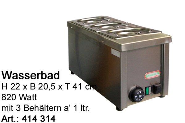 Wasserbad Inox 3 x 0,9 lt. bestehend aus: