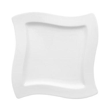 Teller flach quadratisch Serie New Wave 27x27 cm, weiss