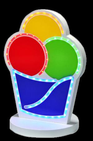 LED-Licht Eis-Pappbecher