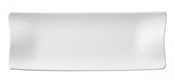 Teller Cera lang 42x15 cm, weiss