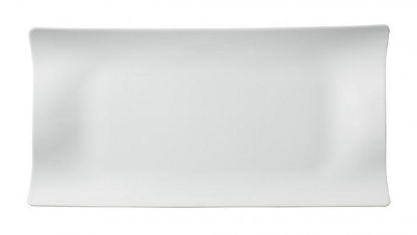 Teller Cera rechteckig 32x21 cm, weiss