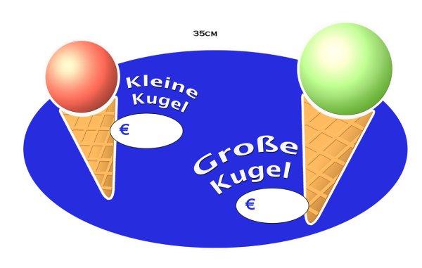 """Aufkleber """"gr.+kl.Kugel"""""""