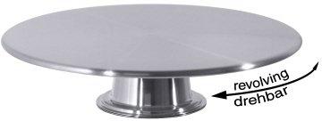 Tortenplatte drehbar 32cm Inox